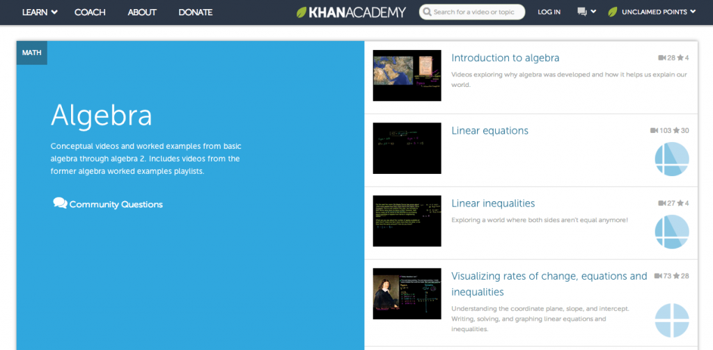 Educational Video Resource: Khan Academy