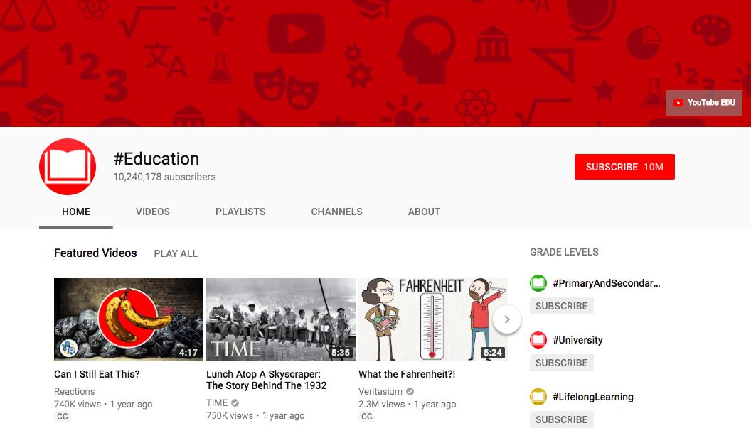 YouTube EDU